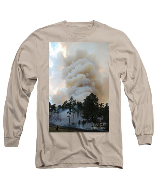 Long Sleeve T-Shirt featuring the photograph Burnout Near Song Dog Road by Bill Gabbert