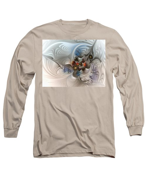 Cloud Cuckoo Land-fractal Art Long Sleeve T-Shirt by Karin Kuhlmann
