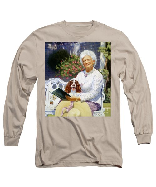 Companions In The Garden Long Sleeve T-Shirt by Candace Lovely