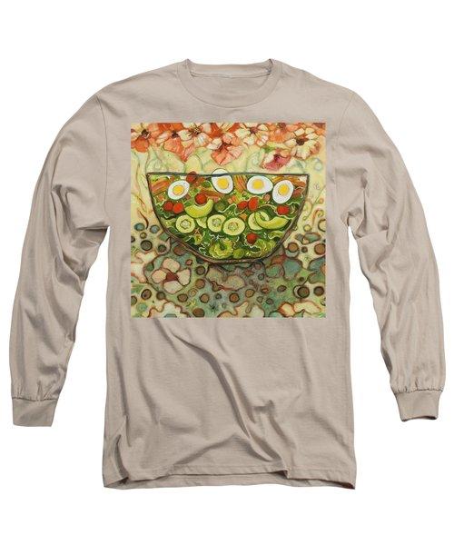 Cool Summer Salad Long Sleeve T-Shirt by Jen Norton