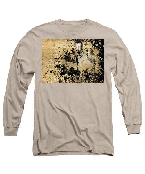 Eric Clapton 3 Long Sleeve T-Shirt by Bekim Art