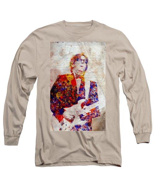 Eric Claptond Long Sleeve T-Shirt by Bekim Art
