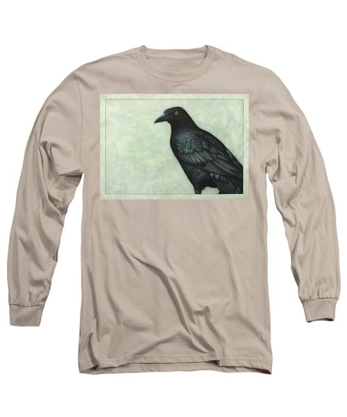Grackle Long Sleeve T-Shirt by James W Johnson
