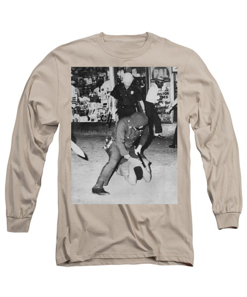 Harlem Race Riots Long Sleeve T-Shirt by Underwood Archives