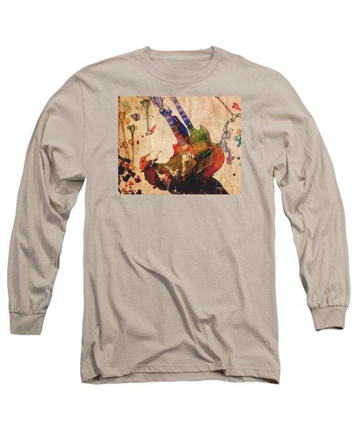 Jimmy Page - Led Zeppelin Long Sleeve T-Shirt by Ryan Rock Artist
