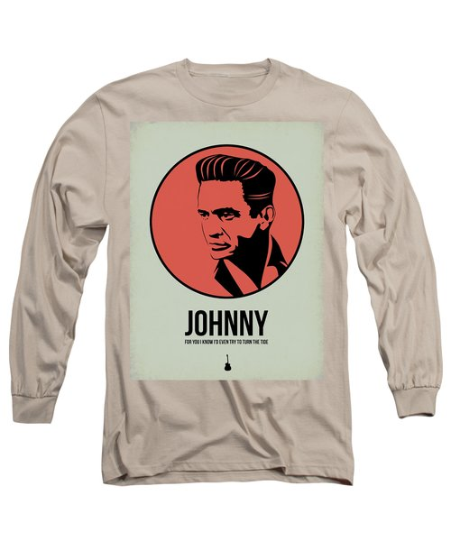 Johnny Poster 2 Long Sleeve T-Shirt by Naxart Studio