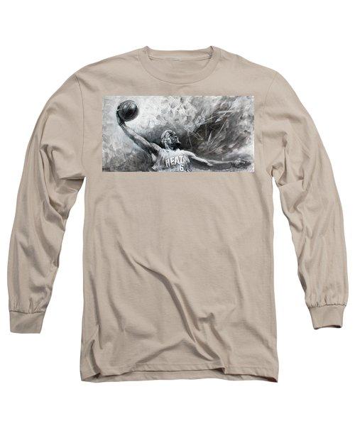 King James Lebron Long Sleeve T-Shirt by Ylli Haruni