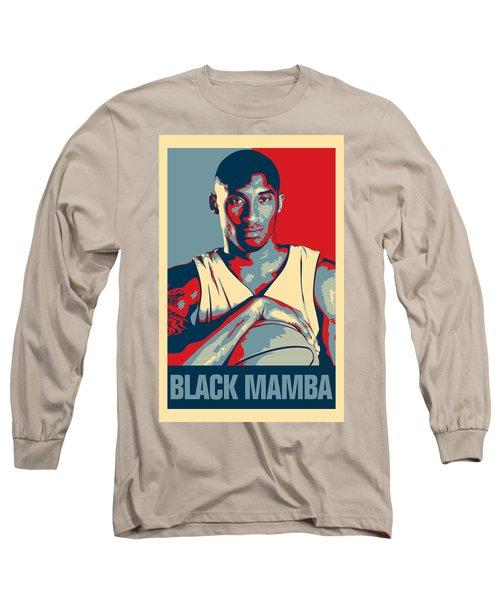 Kobe Bryant Long Sleeve T-Shirt by Taylan Soyturk