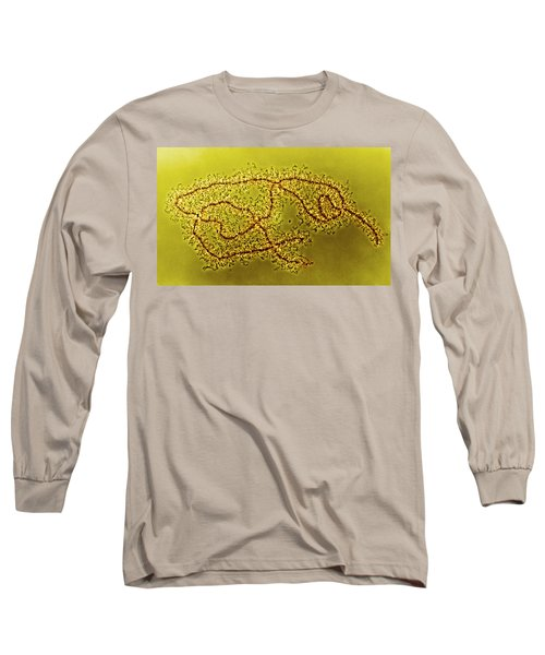 Lampbrush Chromosomes Newt, Lm Long Sleeve T-Shirt by Science Source