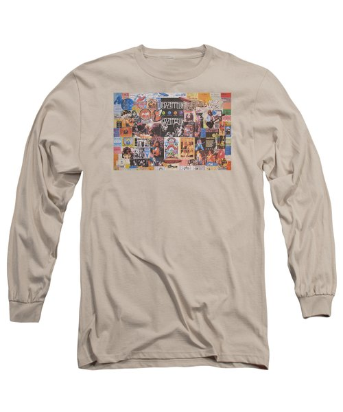 Led Zeppelin Years Collage Long Sleeve T-Shirt by Donna Wilson