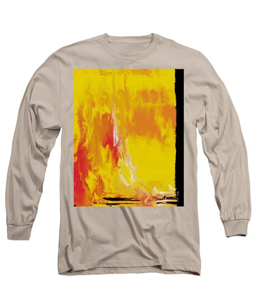 Lemon Yellow Sun Long Sleeve T-Shirt by Roz Abellera Art