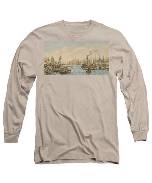 Looking Towards London Bridge Long Sleeve T-Shirt by William Parrot