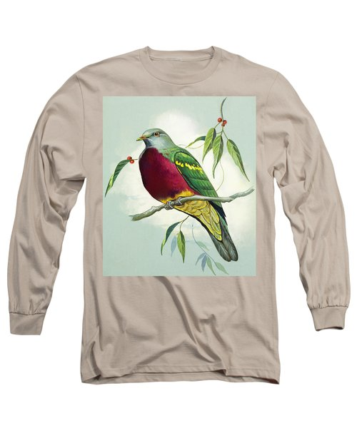 Magnificent Fruit Pigeon Long Sleeve T-Shirt by Bert Illoss