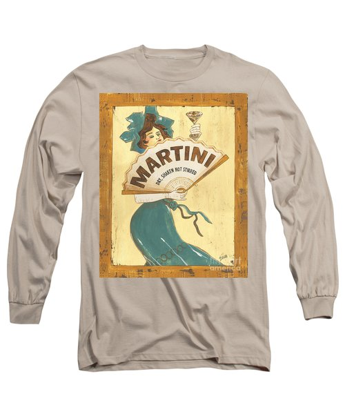 Martini Dry Long Sleeve T-Shirt by Debbie DeWitt