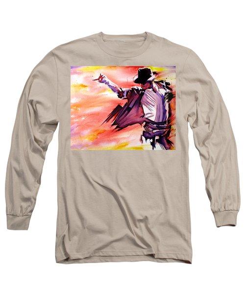 Michael Jackson-billie Jean Long Sleeve T-Shirt by Joshua Morton