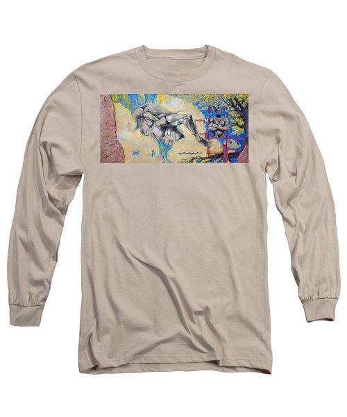 Minotaur Long Sleeve T-Shirt by Derrick Higgins