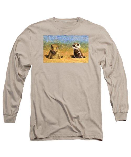 Neighbors Long Sleeve T-Shirt by James W Johnson
