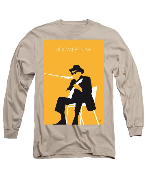 No054 My Johnny Lee Hooker Minimal Music Poster Long Sleeve T-Shirt by Chungkong Art