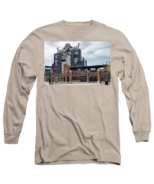 Oriole Park At Camden Yards Long Sleeve T-Shirt by Susan Candelario
