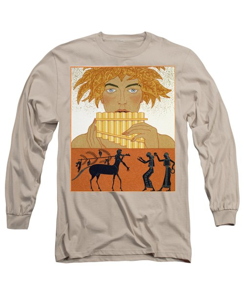 Pan Piper Long Sleeve T-Shirt by Georges Barbier