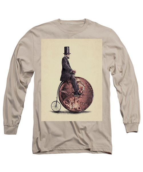 Penny Farthing Long Sleeve T-Shirt by Eric Fan