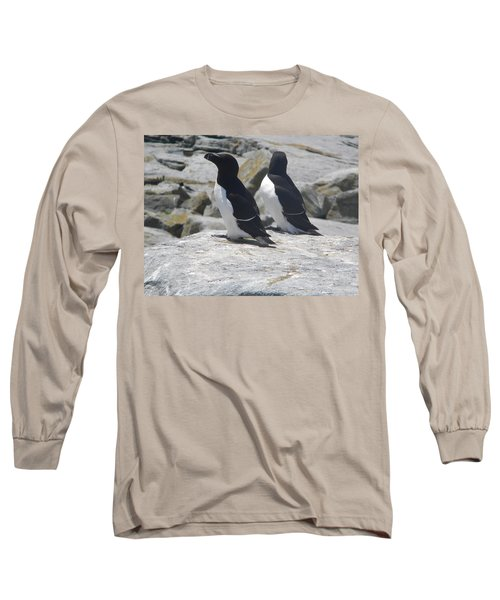 Razorbills 2 Long Sleeve T-Shirt by James Petersen
