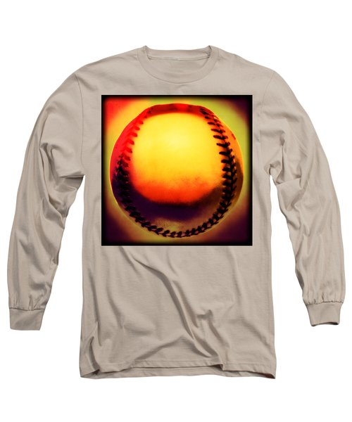 Red Hot Baseball Long Sleeve T-Shirt by Yo Pedro
