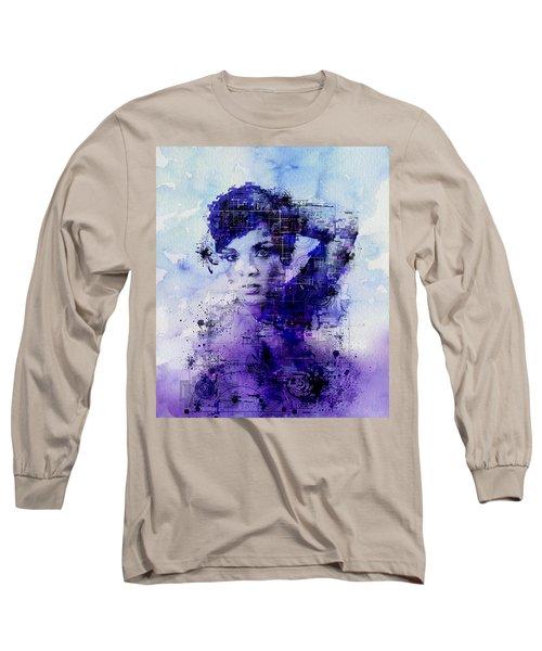 Rihanna 2 Long Sleeve T-Shirt by Bekim Art