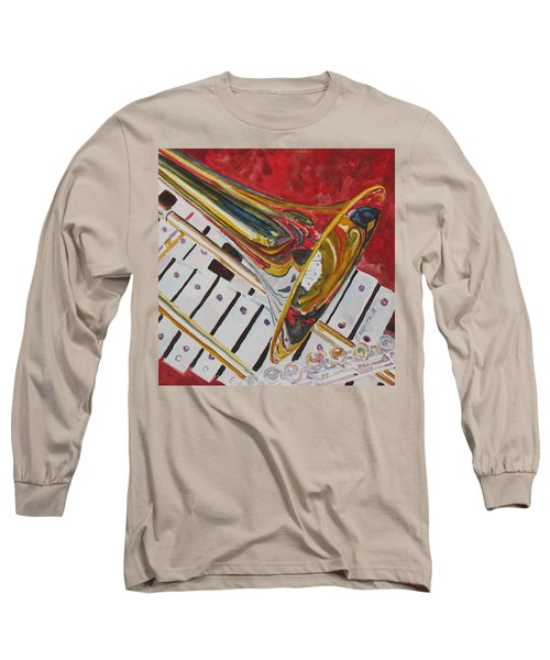 Ringing In The Brass Long Sleeve T-Shirt by Jenny Armitage
