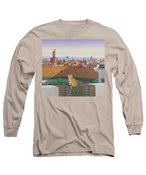 Rooftops In Marrakesh Long Sleeve T-Shirt by Larry Smart