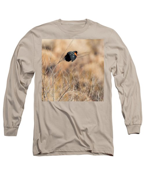 Springtime Song Square Long Sleeve T-Shirt by Bill Wakeley