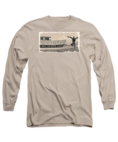 Stadium Cheer Black And White Long Sleeve T-Shirt by Tom Gari Gallery-Three-Photography