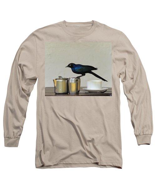 Tea Time In Kenya Long Sleeve T-Shirt by Tony Beck