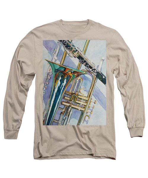 The Color Of Music Long Sleeve T-Shirt by Jenny Armitage
