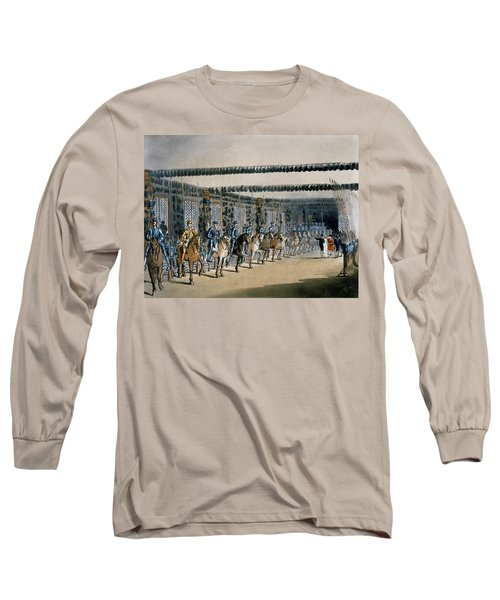 The Horse Armour Tower, Print Made Long Sleeve T-Shirt by T. & Pugin, A.C. Rowlandson