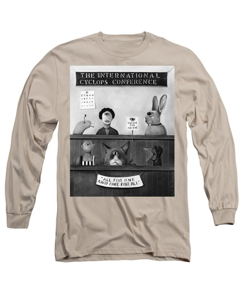 The International Cyclops Conference Edit 4 Long Sleeve T-Shirt by Leah Saulnier The Painting Maniac