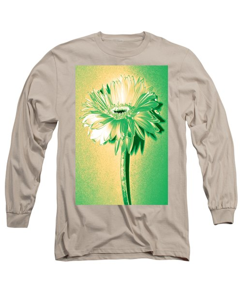 Touch Of Turquoise Zinnia Long Sleeve T-Shirt by Sherry Allen