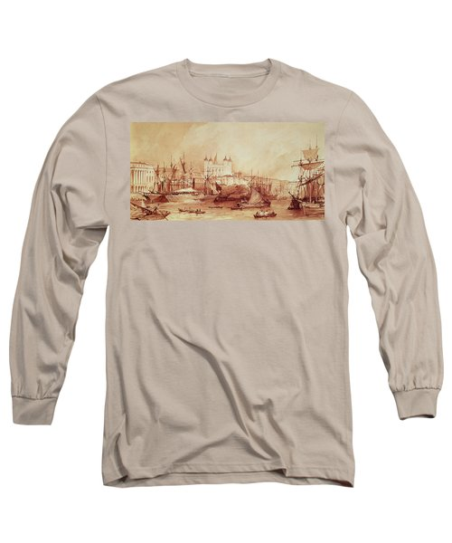 View Of The Tower Of London Long Sleeve T-Shirt by William Parrott