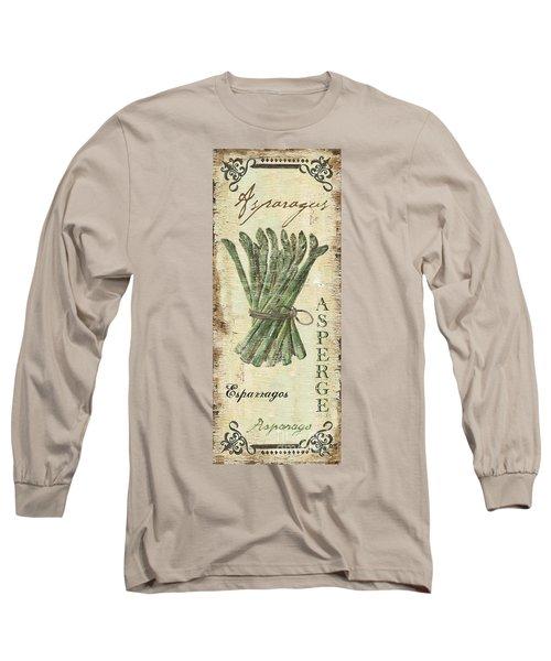 Vintage Vegetables 1 Long Sleeve T-Shirt by Debbie DeWitt