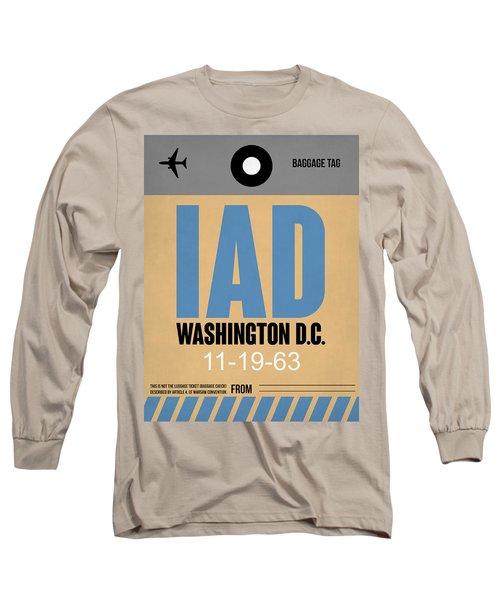 Washington D.c. Airport Poster 3 Long Sleeve T-Shirt by Naxart Studio