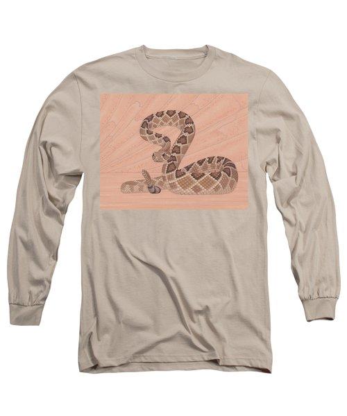 Western Diamondback Rattlesnake Long Sleeve T-Shirt by Nathan Marcy