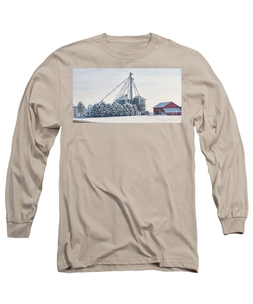 Winter Farm  7365 Long Sleeve T-Shirt by Jack Schultz