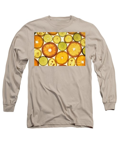 Citrus Slices Long Sleeve T-Shirt by Photo Researchers