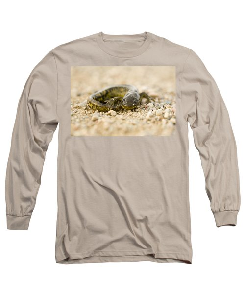 Close Up Tiger Salamander Long Sleeve T-Shirt by Mark Duffy