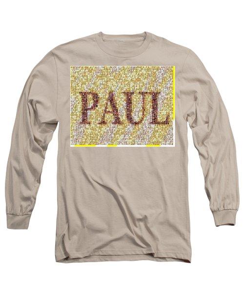 Custom Paul Mosaic Taylor Swift Long Sleeve T-Shirt by Paul Van Scott