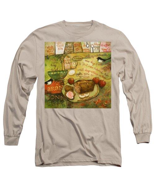 Irish Brown Bread Long Sleeve T-Shirt by Jen Norton
