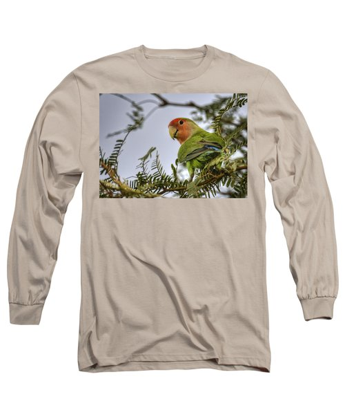Over My Shoulder  Long Sleeve T-Shirt by Saija  Lehtonen