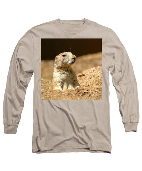 Prarie Dog Bee Alert Long Sleeve T-Shirt by LeeAnn McLaneGoetz McLaneGoetzStudioLLCcom