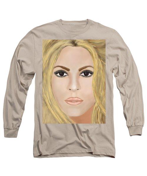 Shakira Long Sleeve T-Shirt by Mathieu Lalonde