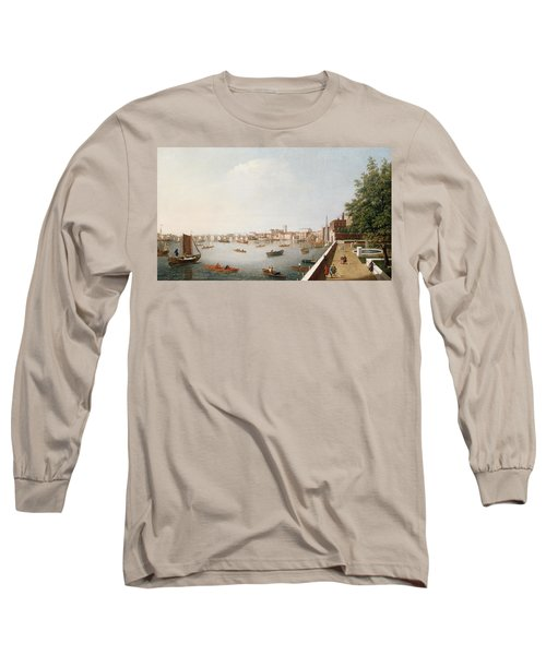View Of The River Thames From The Adelphi Terrace  Long Sleeve T-Shirt by William James